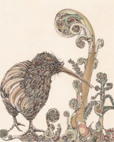 - New Zealand Art Show- kiwi Kiwi Bird, New Zealand Art, Nz Art, Madhubani Art, Maori Art, Kiwiana, Aboriginal Art, Art Forms, Art Pictures