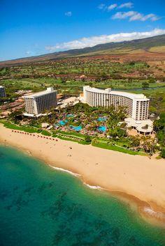 Ka'anapali Beach, Westin Maui Resort and Spa, Maui, Hawaii Beach Honeymoon Destinations, Hawaii Honeymoon, Hawaii Vacation, Maui Hawaii, Dream Vacations, Vacation Spots, Maui Resorts, West Maui, Maui Travel