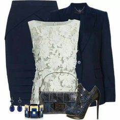 Navy blue and lace!!!!