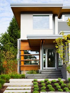 LEED Platinum Residence in Vancouver by Frits de Vries Architect...whish my home front entrance would look like this!