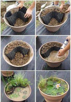 Mini Gartenteich für den Balkon. Dein Wochenendprojekt mit Neidfaktor 10!