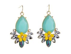 Yellow Wildflower Drop Earrings