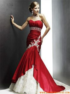 Gorgeous Ideas for a Red Wedding Palette Red wedding dresses