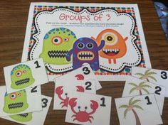 I wanna pull my hair out when the kids pick their own groups!  You, too?!!?!?!  These cards help make group work easier...  cards to assemble pairs, groups of 3, or groups of 4.  Random groups.... fun for kids to find their groups!