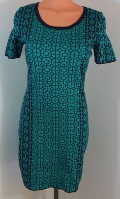 "NEW w/TAGS ""ROMEO & JULIET"" GREEN PATTERN SWEATER DRESS -PLEASE SEE ALL PICTURES #ROMEOJULIET"