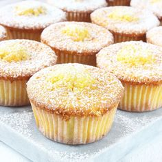 Citronmuffins - Lindas Bakskola & Matskola Muffin Recipes, Baking Recipes, Cake Recipes, Dessert Recipes, Desserts, Christmas Food Treats, Christmas Baking, Swedish Recipes, Sweet Recipes