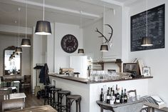 Good Place to Visit: Restaurant No.61 - Journal - Kinfolk Magazine-love the black and white