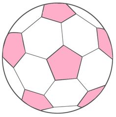 Thema voetbal : voetbal roze