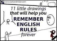Have you ever wondered if you should use 'say' or 'tell'? 11 Little Drawings That Will Help You Remember English Rules Forever. Grammar And Punctuation, Grammar Rules, Teaching Grammar, Grammar Lessons, Teaching Writing, Teaching English, Learn English, Teaching Spanish, Learn French