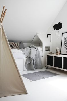Kids room ideas – Home Decor Designs All White Bedroom, White Bedrooms, Deco Kids, Kids Corner, Fashion Room, Kid Spaces, Kidsroom, My New Room, Kids Decor