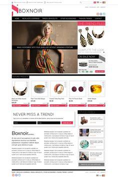 Jewellery ecommerce website concept
