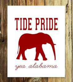 Print University of Alabama Roll Tide Yea 8x10