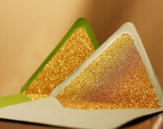 Glittered Envelope Liners - Custom - 6 Colors Available