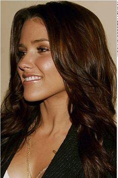 Sophia Bush: Brunette hair done right. Aloxxi Hair Color Personality Brilliant Bergamo™ | brunette hair | long hair | beach waves |