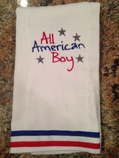 All American Boy Burp Cloth by ERABoutique1 on Etsy, $8.00