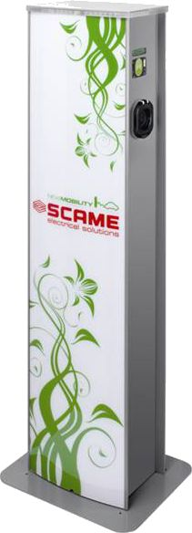 Colonnina Scame ricarica auto elettrica | Scame Pillar for charging electric car