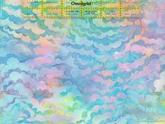 Pastel - Hoffman Bali Batik Handpaints Clouds - Retired