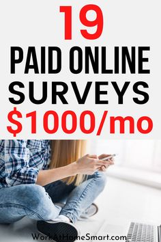 Want to make money doing surveys online? Here's a list of 19 legit paid surveys to earn money. Best Paid Online Surveys, Legit Paid Surveys, Earn Money Online, Make Money Doing Surveys, Surveys That Pay Cash, How To Make Money, Making Extra Cash, Extra Money, Online Business