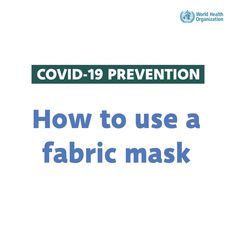 How to wear a fabric mask safely during #COVID19: Do's Wellness Tips, Health And Wellness, Health Fitness, Healthy Tips, How To Stay Healthy, World Organizations, Holistic Approach To Health, International Health, How To Protect Yourself