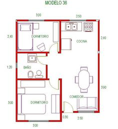Small Dream Homes, Small Tiny House, Small House Design, Tiny House Plans Free, Simple House Plans, 2bhk House Plan, House Floor Plans, 2 Bedroom House Plans, Shed Building Plans