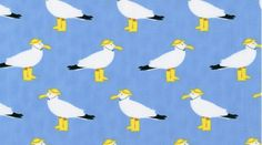 Seagulls (Blue) (Its a Shore Thing from Dear Stella) -- I'm in love with the jaunty little seagulls with rain hats and wellies on.