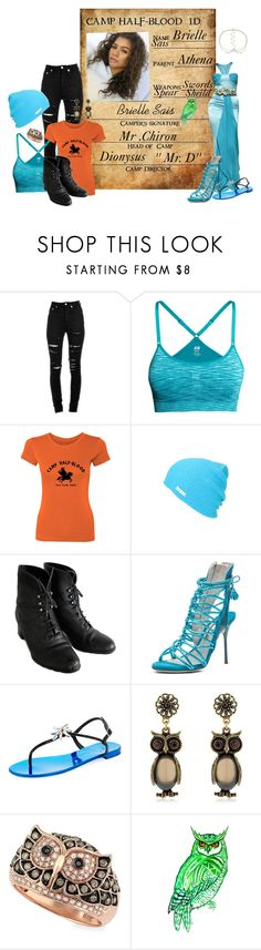 """Brielle Sais"" by wonderland-junkie ❤ liked on Polyvore featuring Yves Saint Laurent, H&M, Neff, Sophia Webster, Giuseppe Zanotti, Alcozer & J, Effy Jewelry, Miss Selfridge, camphalfblood and Athena"