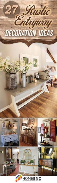 27 Welcoming Rustic Entryway Decorating Ideas That Every Guest Will Love #InexpensiveHomeDecor