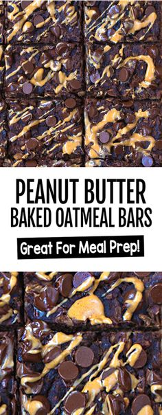 Chocolate Peanut Butter Cup Baked Oatmeal Recipe No Bake Oatmeal Bars, Baked Oatmeal Cups, Baked Oatmeal Recipes, Baked Oats, Healthy Baked Oatmeal, Oatmeal Cookies, Chocolate Peanut Butter Cups, Chocolate Oatmeal, Peanut Butter Brownies