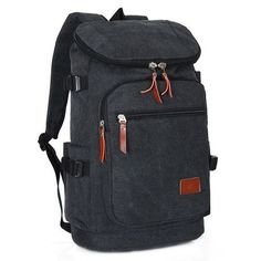 men s backpack Retro casual bag men Canvas bags Fashion high quality men bag  Backpacks for man Four colors Unisex - TMACHE 6cffb85e9c6f5