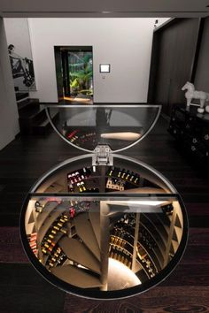 Combined with a single temperature wine cellar with a cheese cellar … – Wine World Cave A Vin Design, Spiral Wine Cellar, Wine Cellar Basement, Home Wine Cellars, Wine Cellar Design, Wine House, Hidden Rooms, Wine Storage, Modern House Design