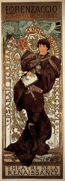 Alphonse Mucha of Sarah Bernhardt (also in chocolate)
