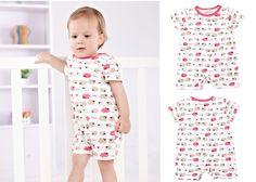 Newborn Baby Toddler Girl Sheep Short Sleeve Bodysuits Romper Jumpsuit 6-12M  #ibaby #Everyday