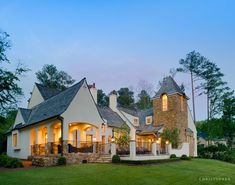 High end architecture & interior design projects nationwide. An award winning team of architects at the Alabama based Christopher Architecture & Interiors. Café Exterior, Exterior Design, Residential Architecture, Interior Architecture, Provence, Diy Simple, Traditional Exterior, Design Case, Home Interior