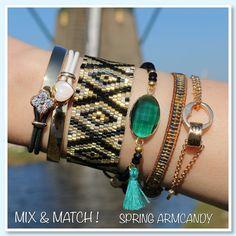 ♡ Vrolijke armparty's met zonnige dagen,time to shop !  :) ♡ Mix & Match ! www.armbandonlinekopen.nl
