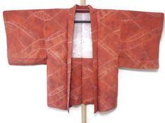 Vintage Rust Colored Silk Haori/ Dark Orange by JagataraArtVintSup