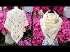 Knitting Patterns Poncho How To Crochet – Ladies Shawl Crochet Prayer Shawls, Crochet Shawls And Wraps, Crochet Scarves, Crochet Hats, Shawl Patterns, Knitting Patterns, Crochet Patterns, Crochet Videos, Crochet For Beginners