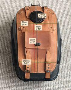KIMISS Bolso universal para panel de motocicleta Bolso de tanque de combustible de cuero de PU Panel de cubierta de tapa con bolsa de bolsa Negro
