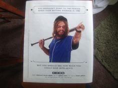 Geico Insurance Cave Man Magazine Advertisement