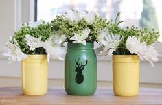 Please Note: DIY: Mason Jar Vases