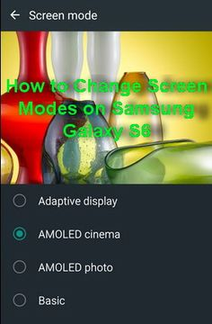 """Are you a Samsung Galaxy S6 owners? and did you know that you can actually change the way colors look on your smartphone? The standard one is a display setting where the show automatically changes to light conditions and may get into overdrive on the particularly warm morning, """"Adaptive display"""", for example, when it increases …"""