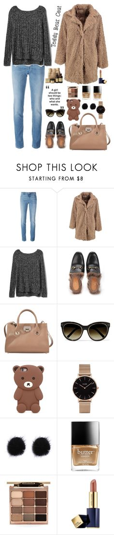 """Snuggle Up: Teddy Bear Coats"" by kays-fashion-escape ❤ liked on Polyvore featuring Givenchy, Boohoo, Gap, Gucci, Jimmy Choo, Chloé, Forever 21, CLUSE, Butter London and Stila"