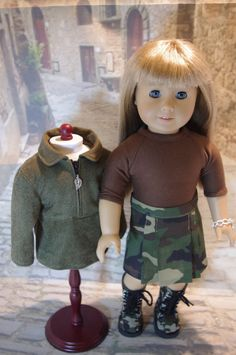American Girl, 18 inch doll clothes, Camouflage Skirt Outfit