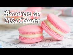 Macarons de Piña Colada   #11 Mesa dulce para Baby Shower - YouTube