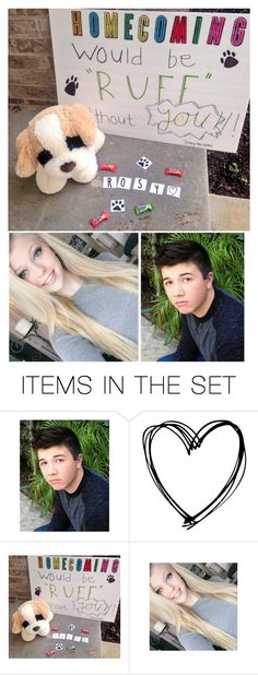 """Homecoming Proposal to ROSY!"" by parker-poly-fam ❤ liked on Polyvore featuring art"