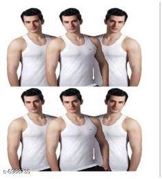 Innerwear Vests Standard Cotton Men's Vest Fabric: Cotton Sleeve Length: Sleeveless Pattern: Solid Multipack: 6 Sizes:  XS (Chest Size: 75 cm Length Size: Up To 26 in To 28 in)  S (Chest Size: 80 cm Length Size: Up To 26 in To 28 in)  M (Chest Size: 85 cm Length Size: Up To 26 in To 28 in)  L (Chest Size: 90 cm Length Size: Up To 26 in To 28 in)  XL (Chest Size: 95 cm Length Size: Up To 26 in To 28 in)  XXL (Chest Size: 100 cm Length Size: Up To 26 in To 28 in) Country of Origin: India Sizes Available: XS, S, M, L, XL, XXL   Catalog Rating: ★4.1 (10015)  Catalog Name: Sassy Men Vest CatalogID_1115541 C68-SC1217 Code: 533-6988735-708