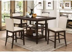 See the Winchester 5 Piece Counter Height Dining Set. Kitchen Dining Sets, Dining Room Bar, Dining Room Design, Dining Table, Black Dining Room Furniture, Dining Furniture, Home Furniture, Furniture Ideas, Breakfast Nook Dining Set
