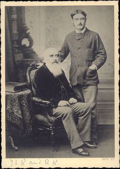 Rudyard Kipling with his father, John Lockwood Kipling c.1880