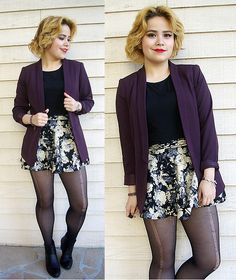 H&M Blazer, Sheinside Skirt