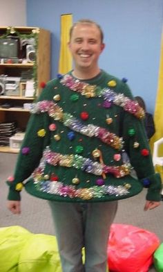 this is great! Ugly sweater party idea!