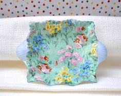 Chintz China Dish with Handles by Shelley by CupOfFlower on Etsy, $50.00